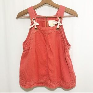 Anthropologie Maeve Coral Tie Swing Tank